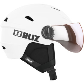 Bliz Strike Visor Helm, white-black